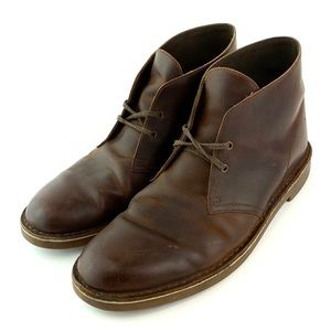 Clarks Chukka Boots Brown Leather Shoes